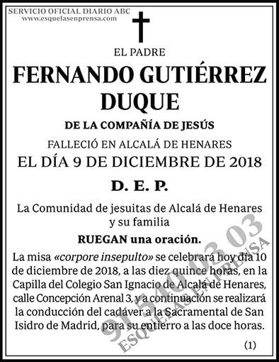 Fernando Gutiérrez Duque